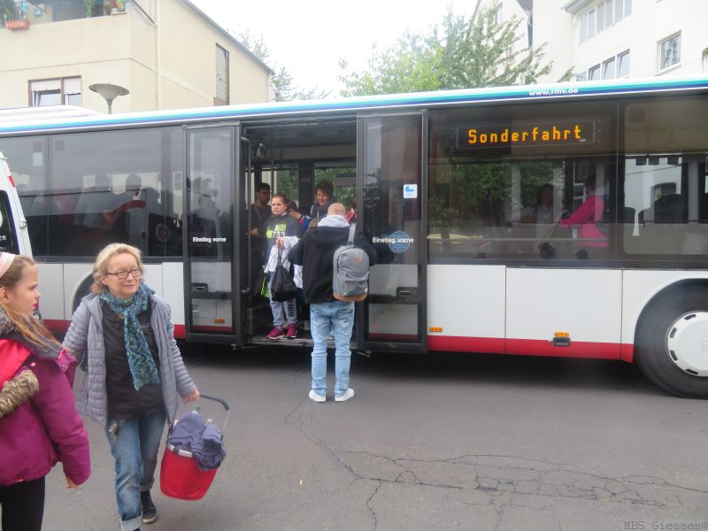 Anfahrt mit Bussen